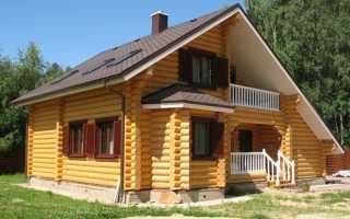 Экологичный бревенчатый дом своими руками