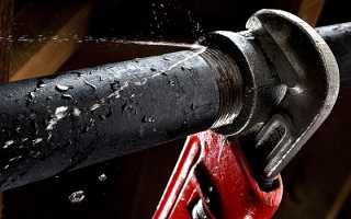 Выполнение ремонта водопроводных труб