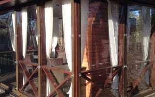 Гибкие окна для беседки