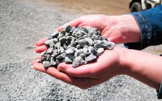 Насыпная и истинная плотность гранитного щебня