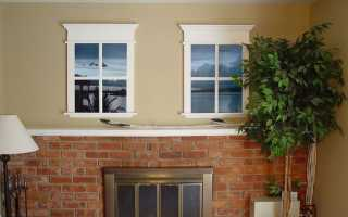 Как сделать фальш окно своими руками