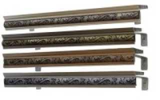 Типы и преимущества металлических карнизов