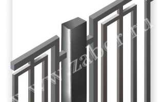 Сварной забор изготовленный из профильной трубы