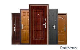 Этапы установки деревянных входных дверей