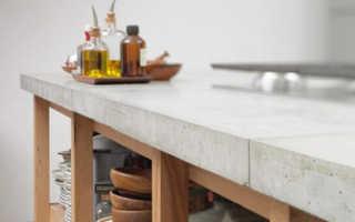 Как изготовить столешницу из бетона своими руками?