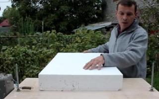 Как производится резка пенопласта своими руками?