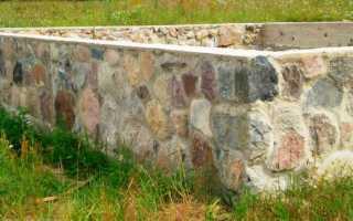 Как правильно заложить фундамент с добавлением бутового камня