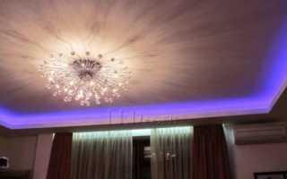 Способы монтажа потолочного карниза с подсветкой