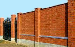 Как сделать забор из кирпича своими руками?