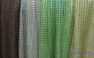 Как сделать шторы своими руками из сетки?