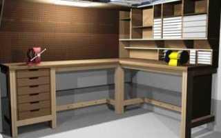 Изготовление верстака для гаража своими руками