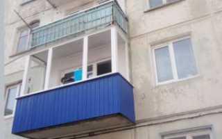 Отделка балкона профлистом своими руками