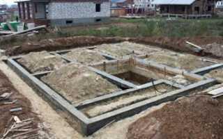 Фундамент под кирпичный домик на даче