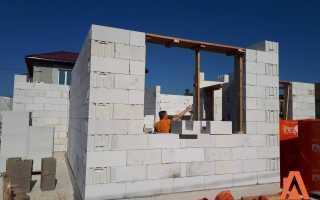 Строительство дома 6х6 из пеноблоков