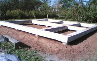 Строительство свайно ленточного фундамента своими руками