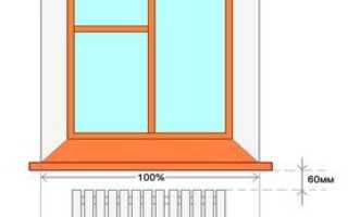 Высота подоконника от пола в частном доме