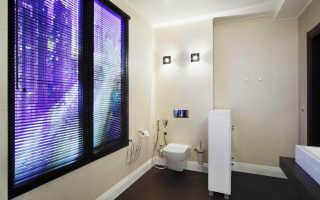 Имитация окна на стене с подсветкой
