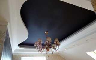 Черный глянцевый натяжной потолок в интерьере фото сочетания