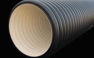 Трубы из пластика большого диаметра