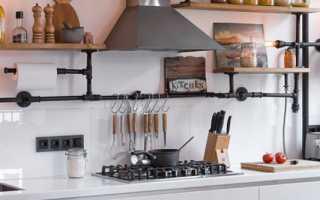 Как в пространстве кухни спрятать газовую трубу?
