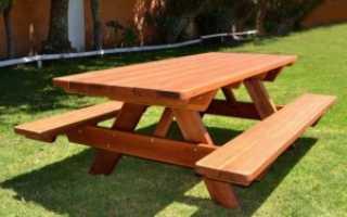 Удобный садовый стол своими руками