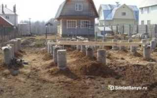 Как установить столбчатый фундамент для бани