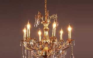 Типы современных потолочных люстр и светильников