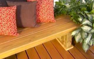 Как сделать деревянную лавку своими руками?