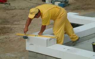 Технология кладки газосиликатных блоков своими руками