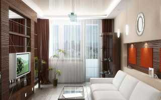 Ассиметричные шторы для окна с балконной дверью