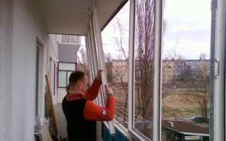 Как снять пластиковые окна на балконе