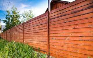 Установка деревянного забора из разных типов пиломатериала