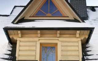 Пластиковые окна треугольной формы