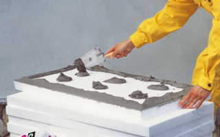 Способы монтажа пенополистирола на стену