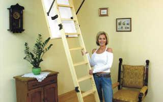 Современные чердачные лестницы своими руками