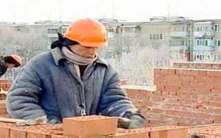 Методы кирпичной кладки стен в зимний период