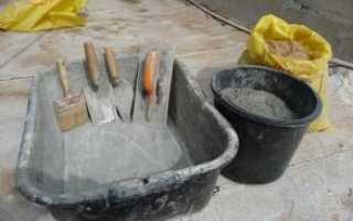 Правила приготовления цементного раствора