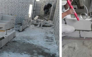 Строительство межкомнатных стен из пеноблоков