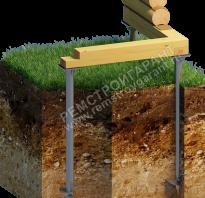 Устройство фундамента для дома из дерева
