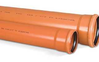 Типоразмеры и диаметры канализационных пластиковых труб