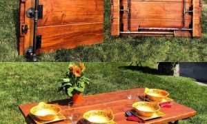 Складной стол своими руками для пикника
