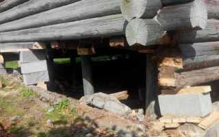 Как самостоятельно поднять старый бревенчатый дом