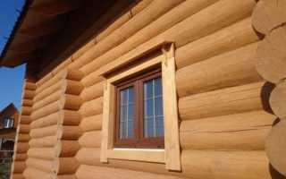 Доборы на окна в деревянном доме
