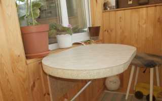 Навесной столик для балкона