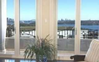 Французские раздвижные двери на лоджию