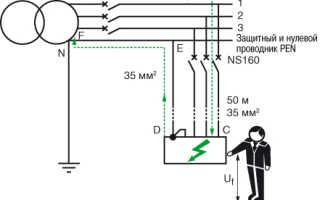 Схемы защитного отключения электроустановок
