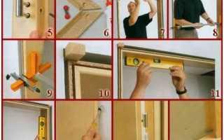 Как ставить петли бабочки на межкомнатную дверь