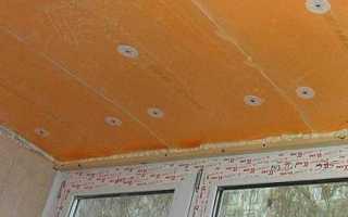 Как утеплить потолок балкона своими руками