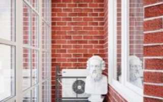 Чем покрасить кирпичную стену на балконе