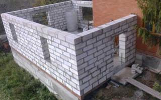 Руководство как построить пристройку к дому из пеноблоков